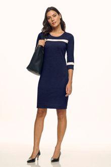 Vestido azul marinho paete